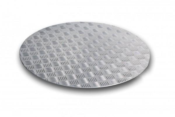 HermaPro Bodenplatte Ø 150cm in Alu-Riffeloptik