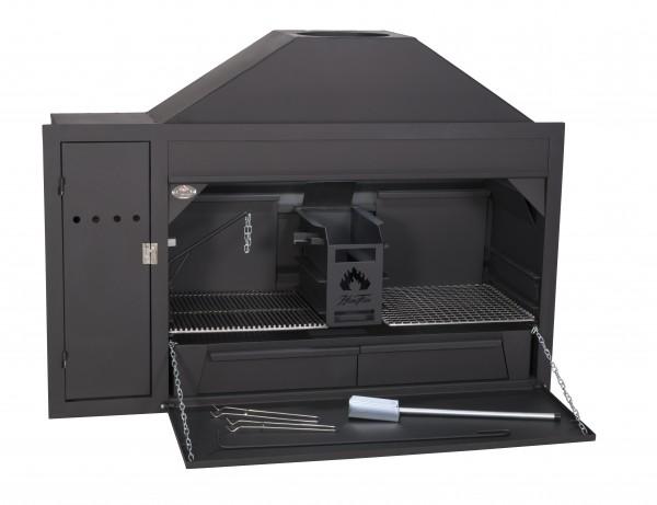 Braai Einbau Grillkamin mit Spieß - Modell 1200