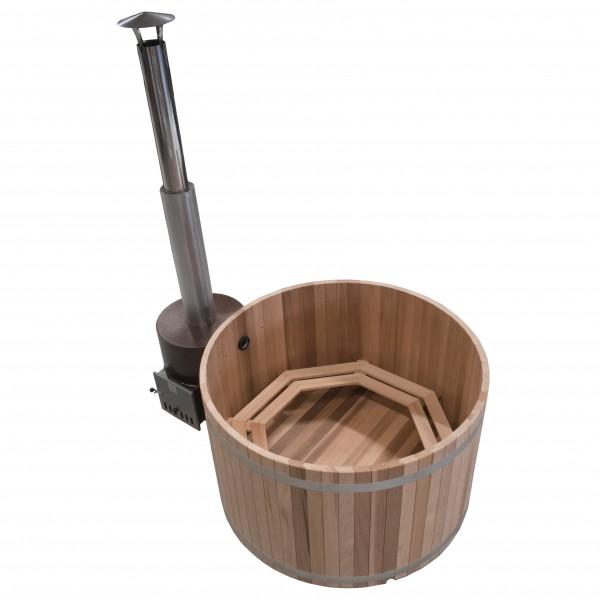 Luxus Holz Badezuber Woody M Red Cedar mit Ofen Tube
