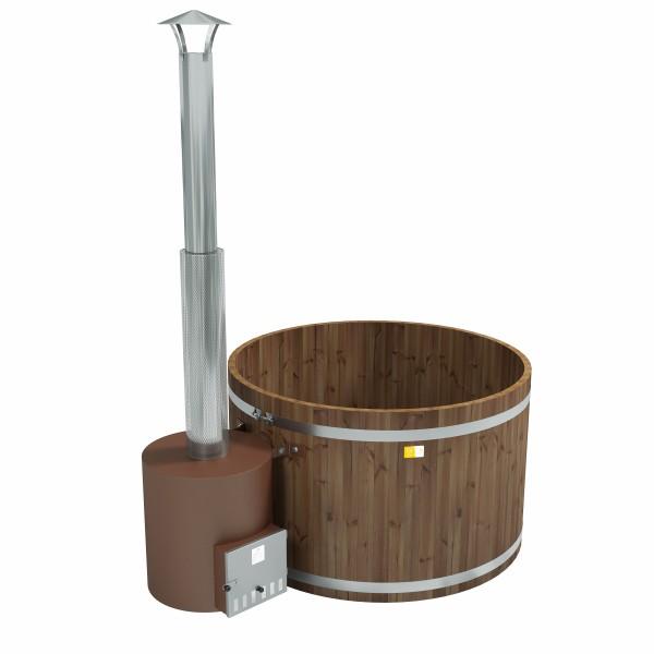 Holz Badezuber Woody M Thermoholz mit Ofen Tube